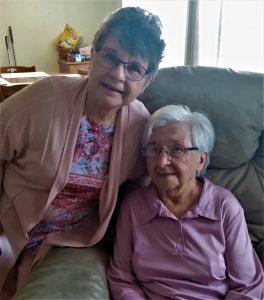 Susan Duelley is the caregiver for Elizabeth Husting.